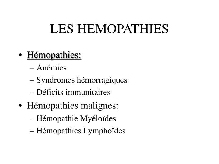 Les hemopathies