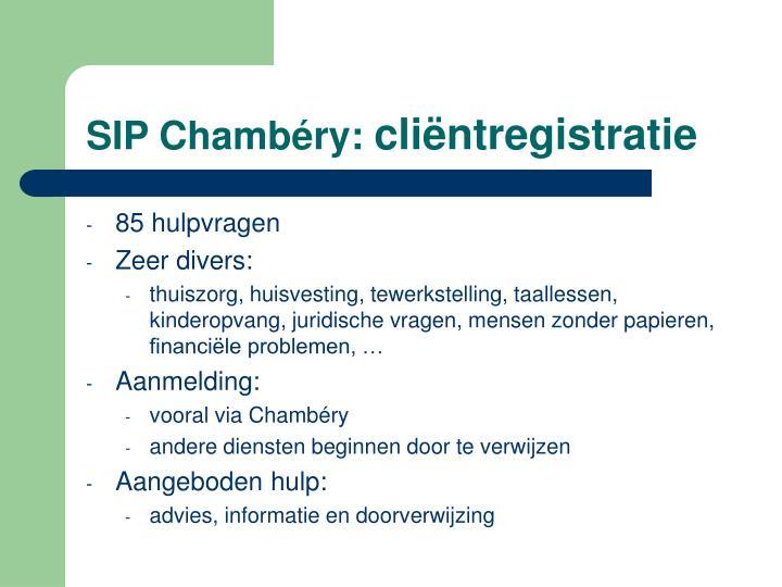 SIP Chambéry: