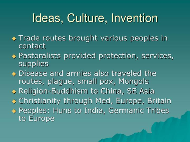 Ideas, Culture, Invention