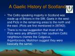 a gaelic history of scotland