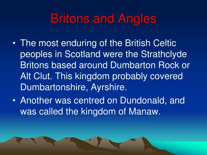 Britons and Angles