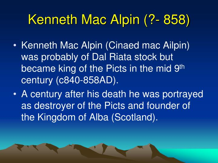 Kenneth Mac Alpin (?- 858)