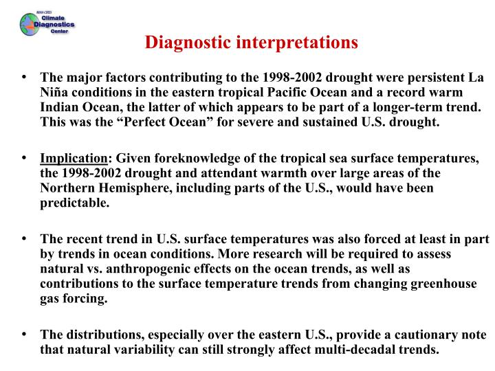 Diagnostic interpretations