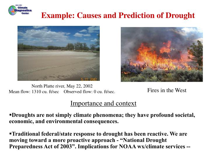 Drought Causes,Prediction