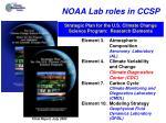 noaa lab roles in ccsp