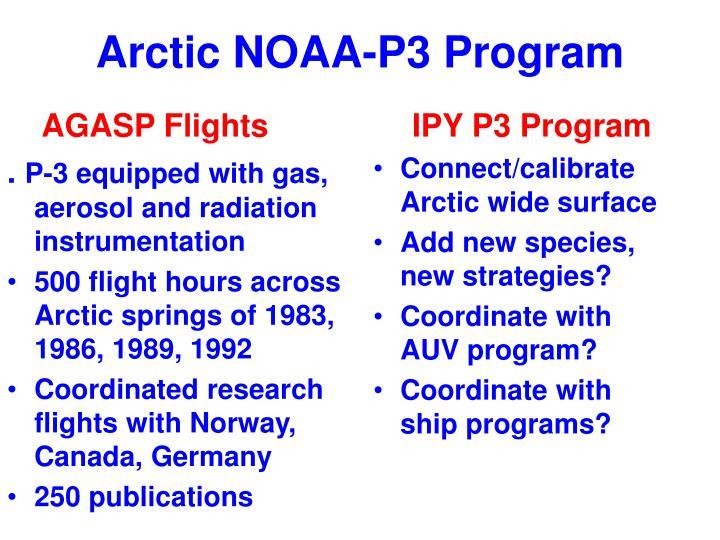 Arctic NOAA-P3 Program