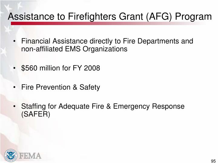Assistance to Firefighters Grant (AFG) Program