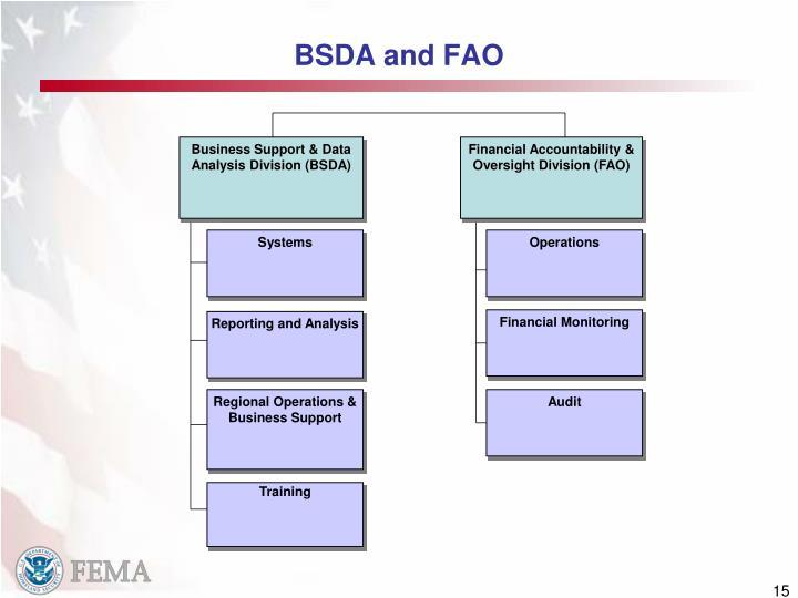 BSDA and FAO