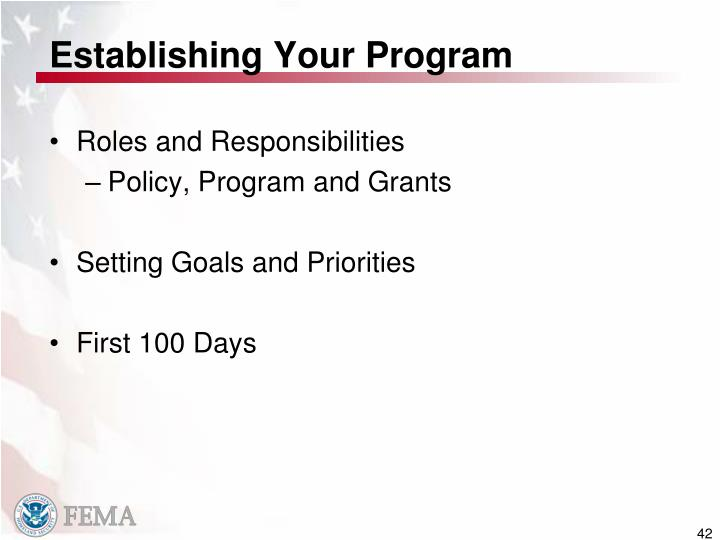 Establishing Your Program