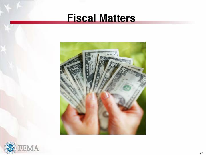 Fiscal Matters