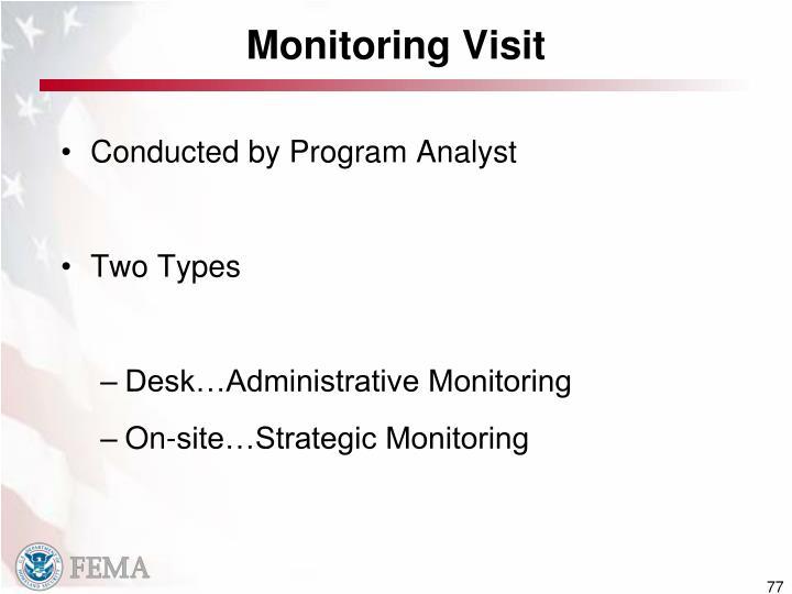 Monitoring Visit