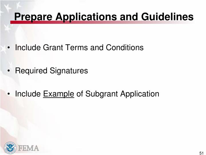 Prepare Applications and Guidelines