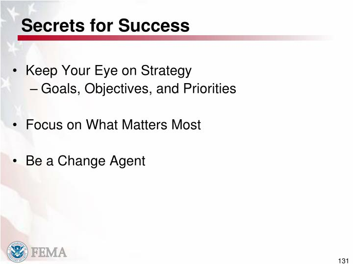 Secrets for Success