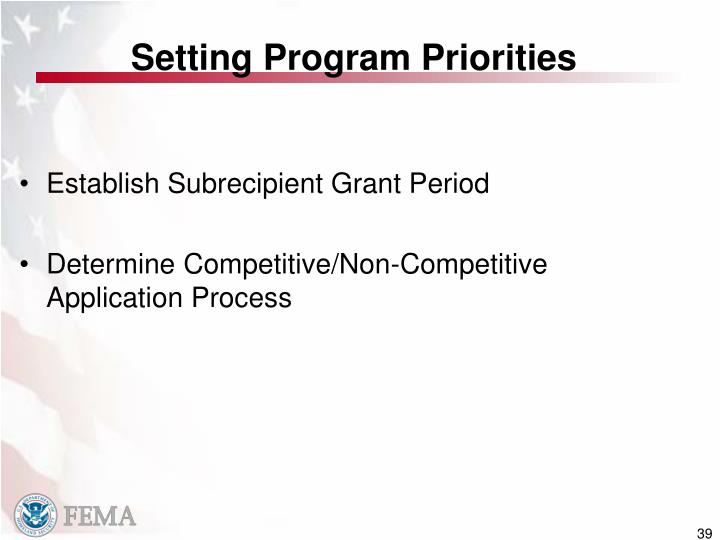 Setting Program Priorities