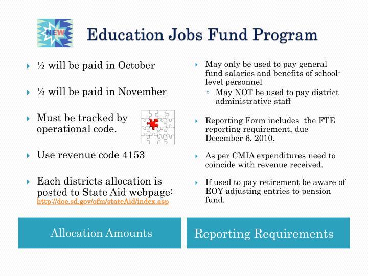 Education Jobs Fund Program