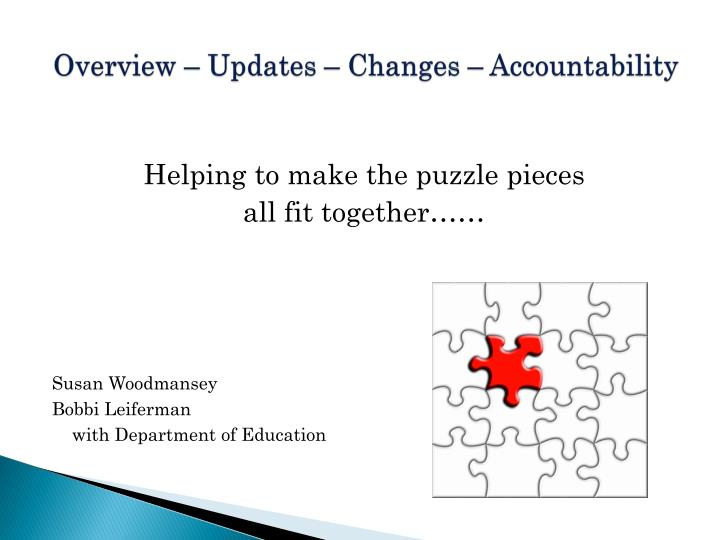 Overview – Updates – Changes – Accountability
