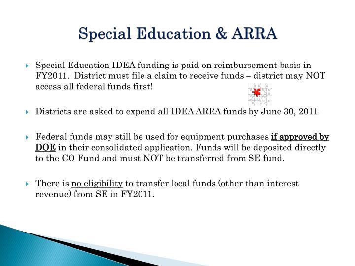 Special Education & ARRA