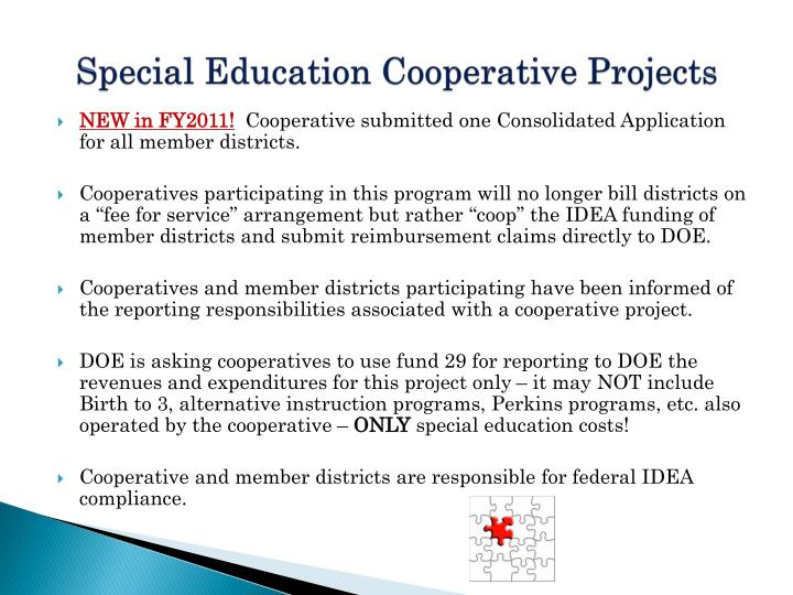 Special Education Cooperative Projects