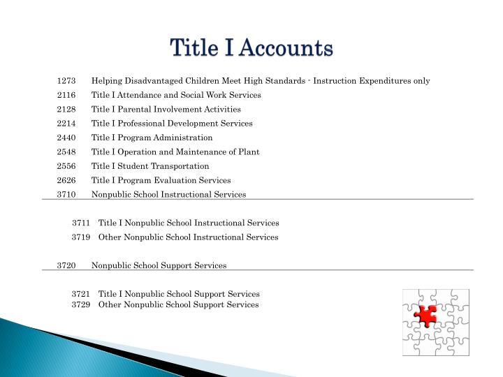 Title I Accounts
