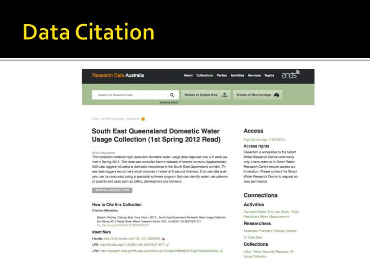 Data Citation