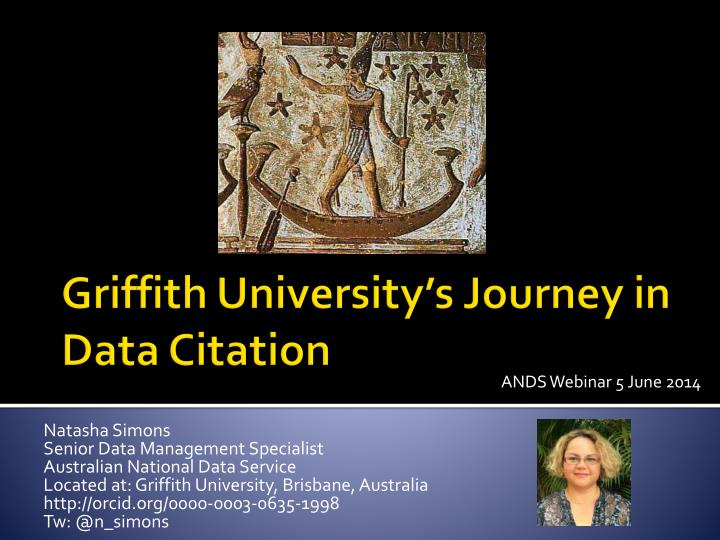 Griffith university s journey in data c itation