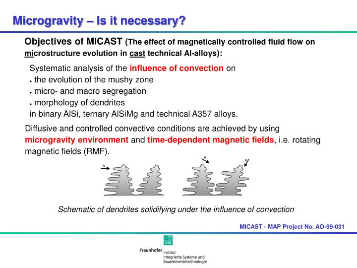 Microgravity – Is it necessary?