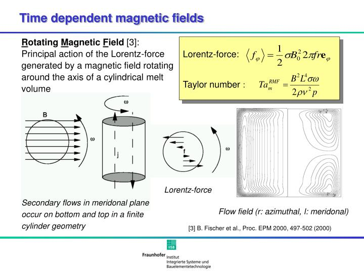 Time dependent magnetic fields