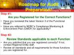 roadmap for audit preparation