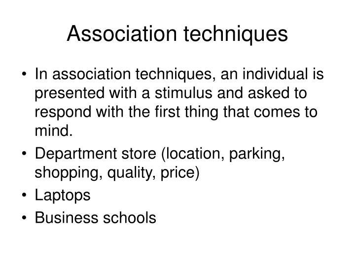 Association techniques