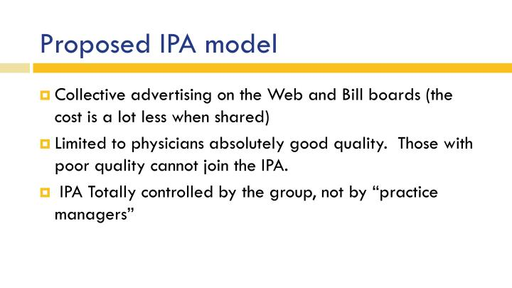 Proposed IPA model
