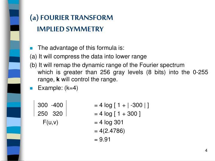 (a) FOURIER TRANSFORM