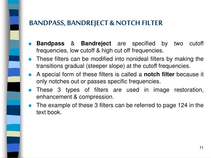 BANDPASS, BANDREJECT & NOTCH FILTER