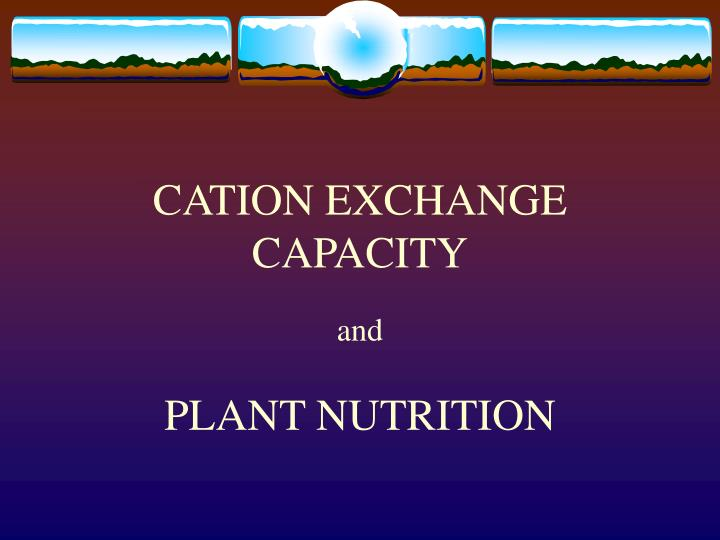 Cation exchange capacity