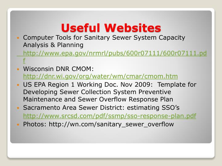 Computer Tools for Sanitary Sewer System Capacity Analysis & Planning
