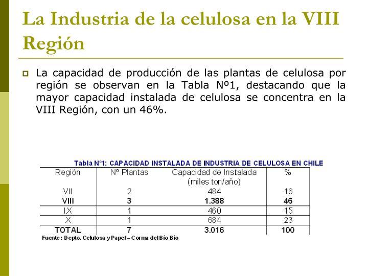 La Industria de la celulosa en la VIII Región