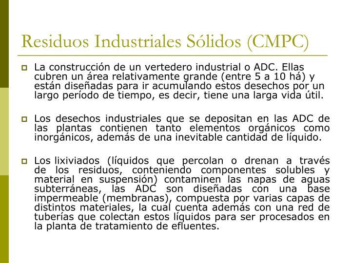 Residuos Industriales Sólidos (CMPC)