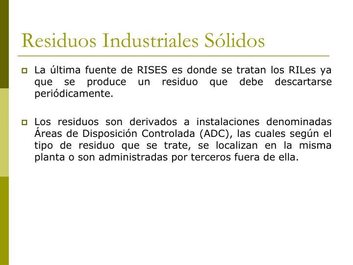 Residuos Industriales Sólidos