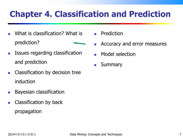 What is classification? What is prediction?