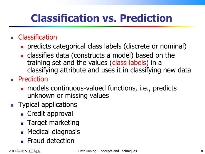 Classification vs. Prediction