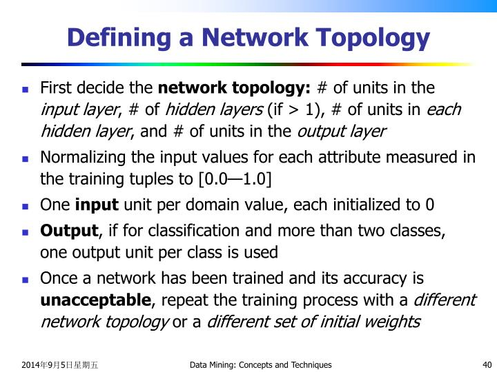 Defining a Network Topology