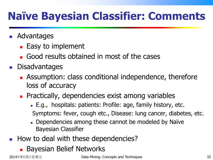 Naïve Bayesian Classifier: Comments