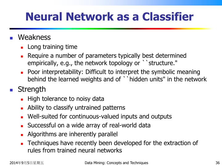 Neural Network as a Classifier