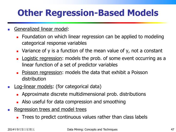Other Regression-Based Models
