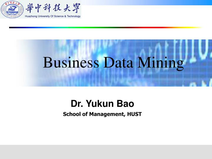 Business Data Mining