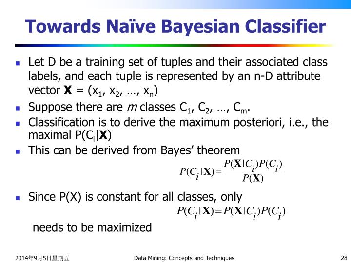 Towards Naïve Bayesian Classifier