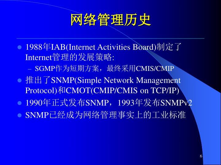 网络管理历史