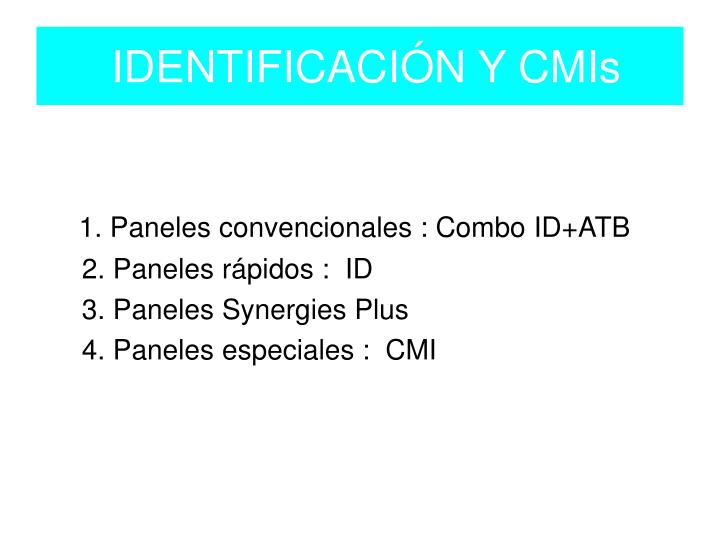 IDENTIFICACIÓN Y CMIs