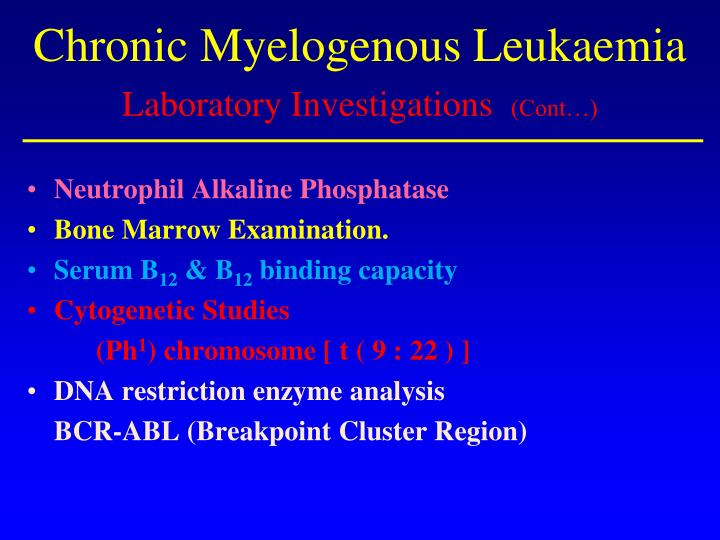 Chronic Myelogenous Leukaemia