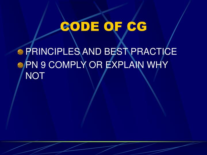 CODE OF CG