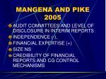 mangena and pike 2005
